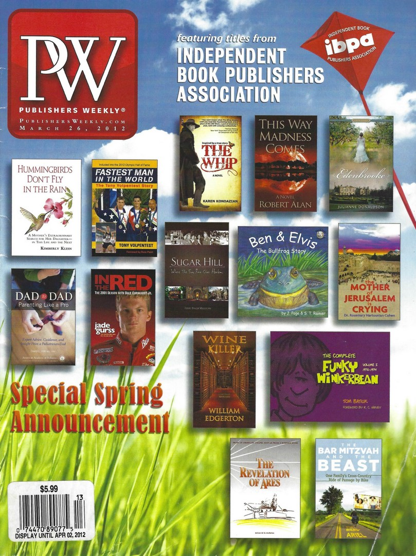 """""""Sugar Hill"""" is on the Cover of This Week's Publishers Weekly Magazine"""