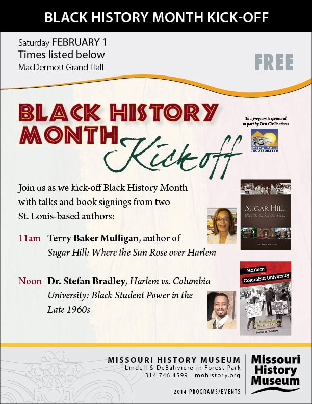February 1st Book Talk and Signing at Missouri History Museum