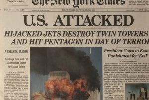 The NY Times Headline on September 12, 2001